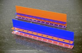 Zahnbürstenhalter, blau/orange, 900 mm, mit 12-Loch