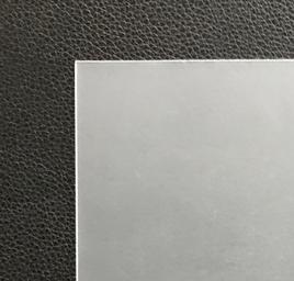 Folie aus Polypropylen 0.8mm transparent satiniert