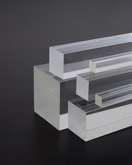 Vierkantstab aus Acrylglas 80 mm transparent farblos, Länge 1000 mm
