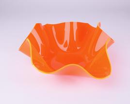 Schale, klein, orange fluoreszierend